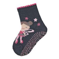 """Baby Mädchen Anti-Rutsch-Socken Glitzer Fliesen Flitzer Air Strümpfe mit rutschfester gefütterter ABS-Sohle, marineblau """"Fee"""" - 8131912"""