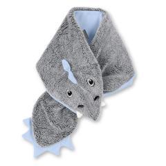 Jungen Schal Plüsch Monster, grau - 4201781