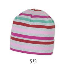 Kurze Mütze Beanie Umschlagmütze Mädchen, hellgrau