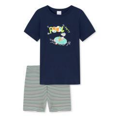 """Jungen Schlafanzug Pyjama kurz Sommer """"Maus Pool Party"""", dunkelblau - 173155"""