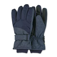 Jungen Handschuhe Fingerhandschuhe wasserabweisend mit Klettverschluss und Thinsulate-Inlet gefüttert mit wärmendem Futter, blau - 4322110