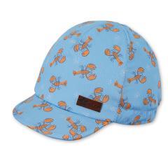 """Jungen Kinder Baby Schirmmütze Sonnenhut Cap mit LSF UV-Schutz 15, 100% Baumwolle """"Krebs"""",  himmelblau – 1612021"""
