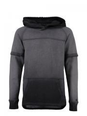 Jungen Sweater mit Kapuze, anthrazit - H73664a