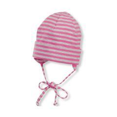 Mädchen Sommermütze zum Binden, Erstlingsmütze, Beanie pink - 1501806