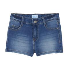 Mädchen Teens kurze Jeans-Hose Shorty mit verstellbarem Bund, jeansblau -  235.