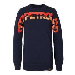 Jungen Pullover Sweater Sweatshirt Langarmshirt Petrol Ind., dunkelblau - B-3090-SWR344