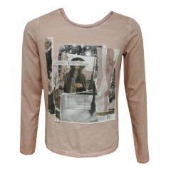 Mädchen Langarm T-Shirt Spitze, altrosa