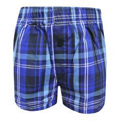 Boxershorts Shorts Jungen kariert, dunkelblau - 154733