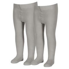 Jungen Strumpfhose Doppelpack einfarbig, grau - 8601730
