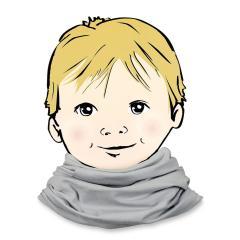 Halstuch Loop Allrounder für Jungen einfarbig, hellgrau - 1531450hg