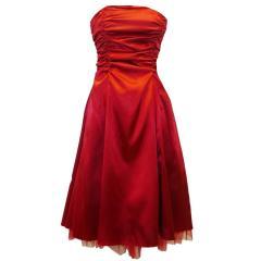 Festkleid Mädchen mit Stola zum Binden, rot