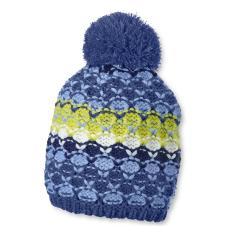 Jungen Mütze Strickmütze mit Bommel von Sterntaler, blau-gelb - 4721711