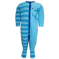 Baby Schlafanzug Overall Jungen, hellblau