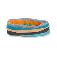 """Jungen Kinder Baby Allrounder Loop LSF UV-Schutz 50+ Baumwolltuch """"gestreift"""", dunkeltürkis, orange, grau – 1522051"""