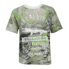 Jungen Kids T-Shirt Kurzarmshirt gemustert Alligator, grün - 533179