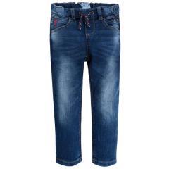 Jungen Jeans Loose Fit mit Bändchen, jeans - 3540