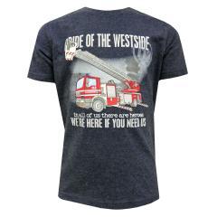 Jungen T-Shirt Kurzarm-Shirt Feuerwehr, blau - 73112135b