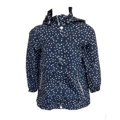 Mädchen Softshelljacke Regenjacke Regenmantel ,gepunktet , blau-weiß - 6823912