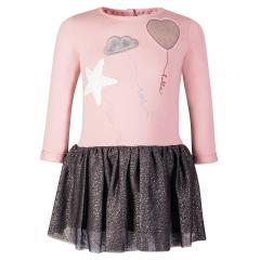 """Mädchen Kleid Winterkleid langarm Glitzerrock """"Ballon"""", rosa - 913515"""