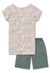 """Schlafanzug kurzarm Mädchen """"tropische Blätter"""", rosa - 161377"""