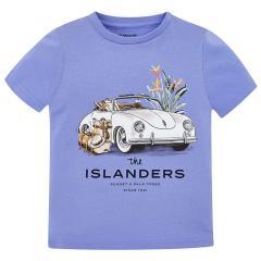 Mayoral Jungen T-shirt kurzarm mit Fahrzeug-Motiv, blau - 3.027b