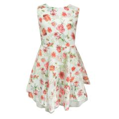 Mädchen festliches Kleid Abendkleid Blumen-Muster, bunt - mf23047