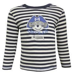 Baby Jungen Langarmshirt gestreift, dunkelblau - 73211112