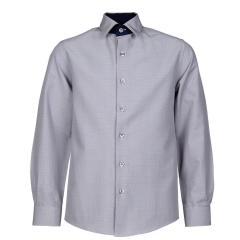 Jungen festliches Hemd slim, langarm, grau - 5549200g