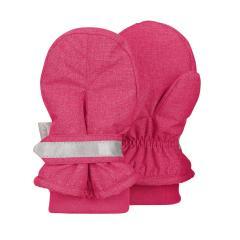 """Mädchen Handschuhe Fausthandschuhe mit Stulpe und reflektierendem Klettverschluss, wasserabweisendes Material """"meliert"""", magenta - 4301842"""