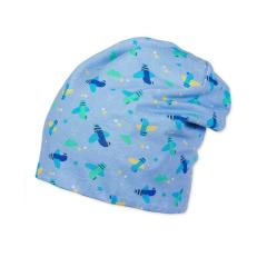 Jungen Mütze Slouch-Beanie Wendemütze Flugzeuge, blau - 1601865