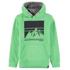Kapuzensweatshirt Jungen mit Motiv, hell Grün, U03460