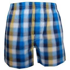 Jungen Boxershorts Shorts Unterhose, blau-gemustert