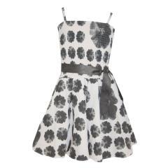Festliches Kleid Abendkleid Mädchen, weiß-schwarz