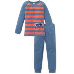 Jungen Schlafanzug langarm, orange - 163407