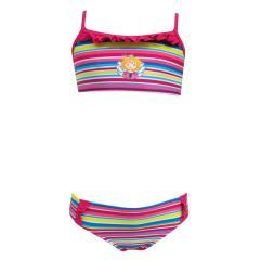 Bikini Mädchen Zweiteiler gestreift Prinzessin Lillifee, pink-fuchsia - 155788