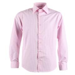 Jungen festliches Hemd Slim-Fit langarm, kariert, rosa - 5545800rosa