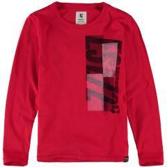"""Garcia Jungen T-Shirt Langarmshirt Aufdruck """"Est. 72"""", rot - H93602 2808"""