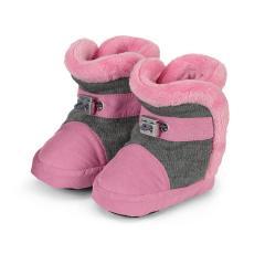 Baby Schuhe Stiefel Mädchen gefüttert mit Gummizug, perlrosa - 5101824