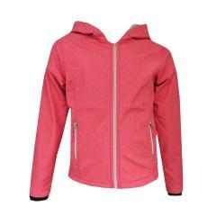 Mädchen Softshelljacke gefüttert Regenjacke Winddicht und Wasserabweisend einfarbig, pink