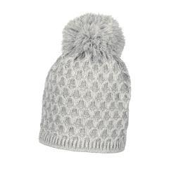 Mädchen Mütze Wintermütze Strick mit Bommel gefüttert, ecru (908) - 4721818