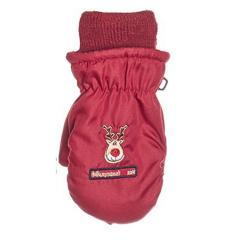 Fäustlinge Kinder Handschuhe Mädchen gefüttert, Rentier, rot - 9506802r