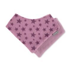 """Baby Mädchen Dreieckstuch zum Wenden Halstuch Klettverschluss Fleece """"Sterne"""", helllila - 4101901"""