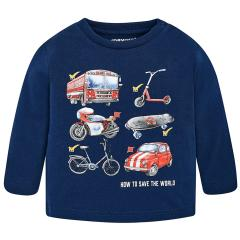 Jungen Shirt mit langen Ärmeln Automotiv, dunkelblau - 2.028db