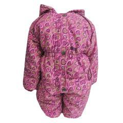 Baby Mädchen Schneeoverall Schneeanzug wasserfest Fleecefutter, pink