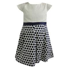 Baby Mädchen Kleid Sommerkleid festliches Kleid gepunktet, blau-weiß - 73220283