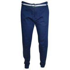 Jungen Hose Stoffhose lang mit Gürtel, dunkelblau