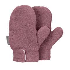 Mädchen Fäustlinge Handschuhe Fleece mit Klettverschluss, pflaume mel. - 4301420