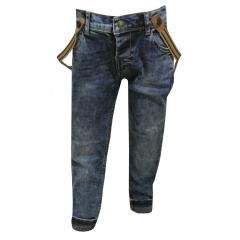 Jeans Jungen mit Hosenträgern, jeansblau