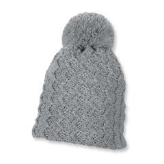 Mädchen Mütze Strickmütze Glitzer mit Bommel von Sterntaler, grau - 4721630