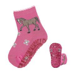 """Baby Mädchen Anti-Rutsch-Söckchen Glitzer Flitzer, pink """"Pferde"""" - 8031920"""